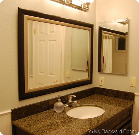 Finished Bathroom Mirror
