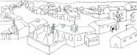 Pueblos para colorear - Imagui