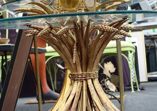 the estate of things chooses gilded wheat coffee table