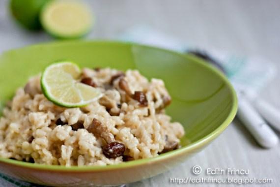 risotto cu ciuperci de padure 2