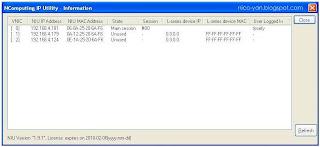 Gambar NIU IP utility information
