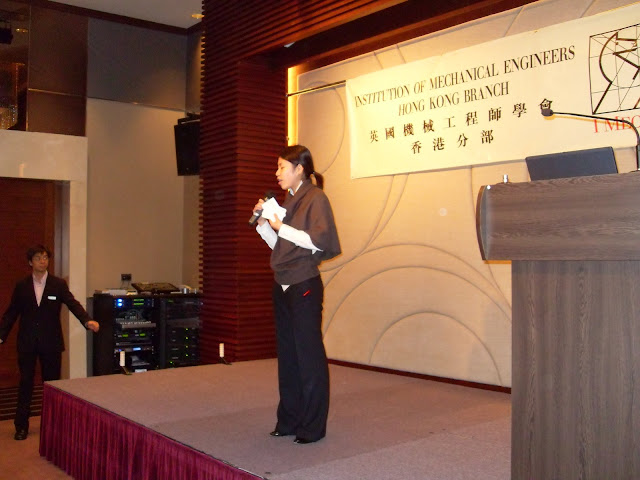 Eunice Chan as Master of Ceremony for the night