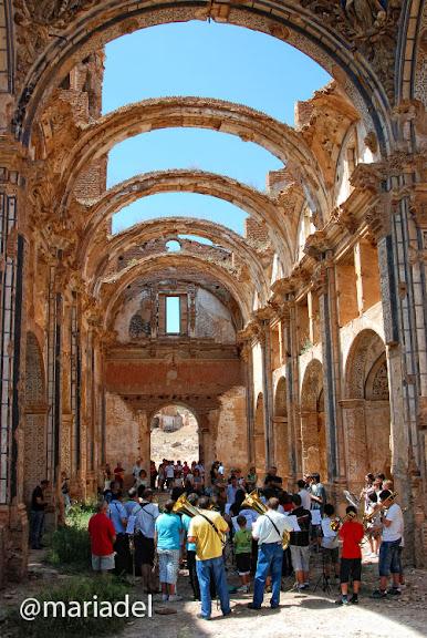 Banda Municipal Música Ejea en Iglesia San Martín de Belchite