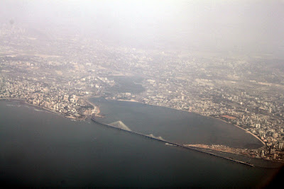 View from Aircraft - Bandra Worli Sea Link