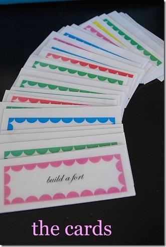 the bucket list cards