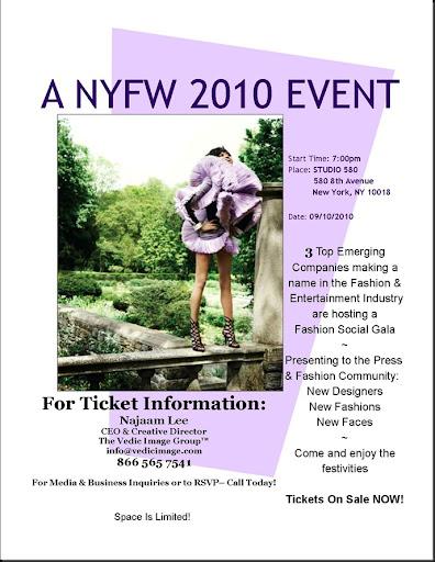 Najaam NYFW Event Announcement