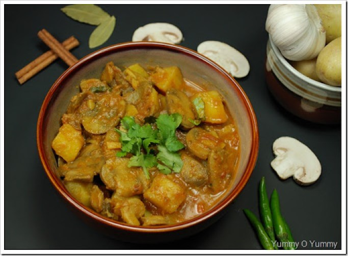 Mushroom Potato Curry