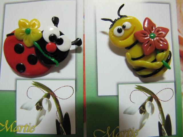 Martisoare handmade amuzante - gargarite albinute
