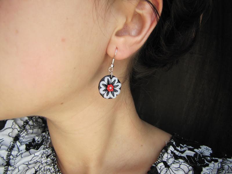 Cercei floricele handmade