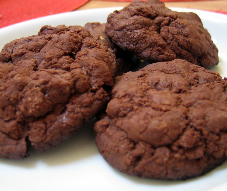 finished chocolate fudge cookies