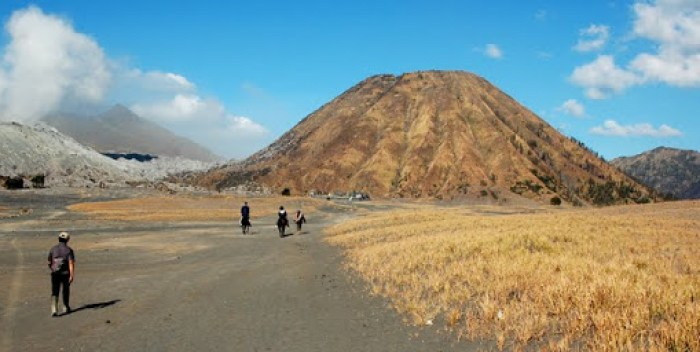 Dormant cone at Bromo - an iconic sight in Java, Indonesia