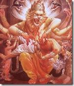 Narasimha killing Hiranyakashipu