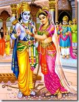 Sita declaring Rama the winner