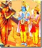 Rama and Lakshmana with Bharadvaja