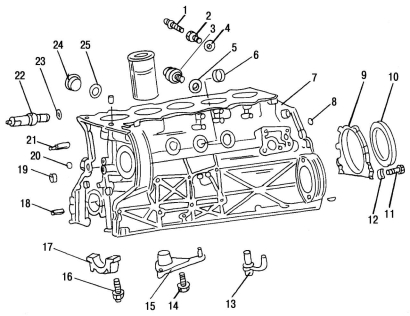 Engine diagrams mercedes