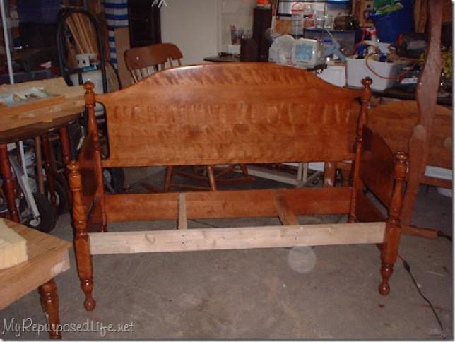 maple bed headboard bench