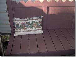scalloped headboard bench