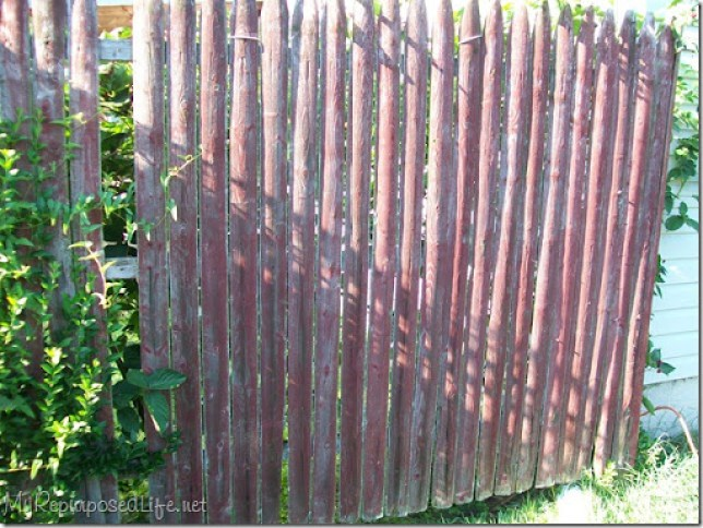 repurposed stockade fence
