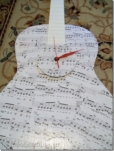 repurposed guitar clock