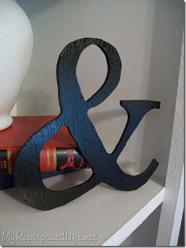 white shelf black ampersand