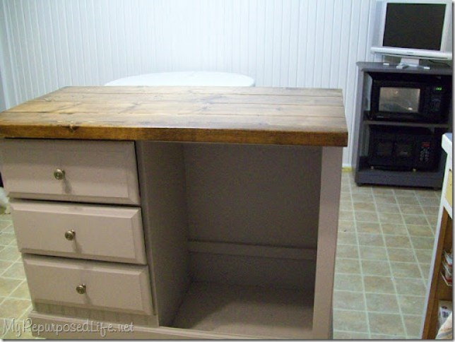 Repurposed desk (kitchen Island)