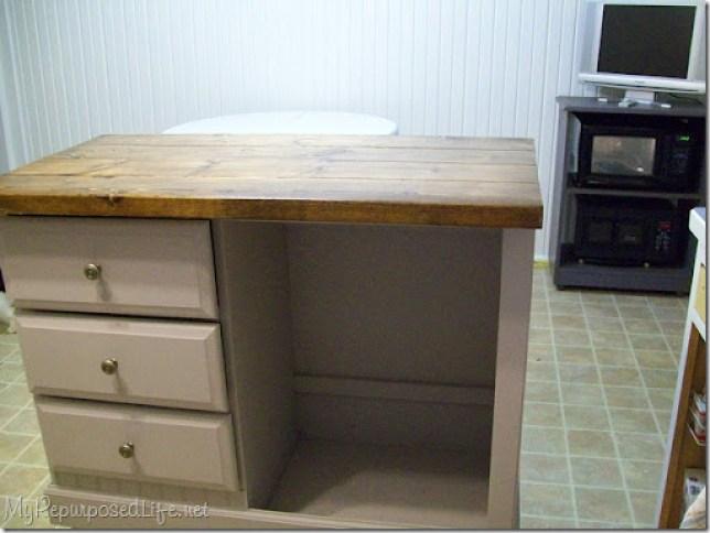 Repurposed desk (kitchen Island)