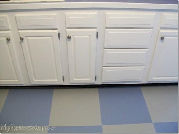 painted vinyl floor