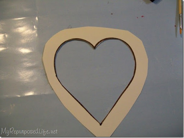 simple heart valentine stencil for painting on glass
