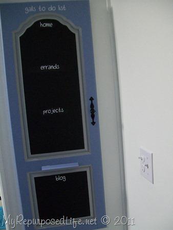 repurposed door into chalkboard (20)