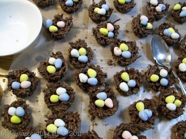 chocolate bird nests speckled eggs