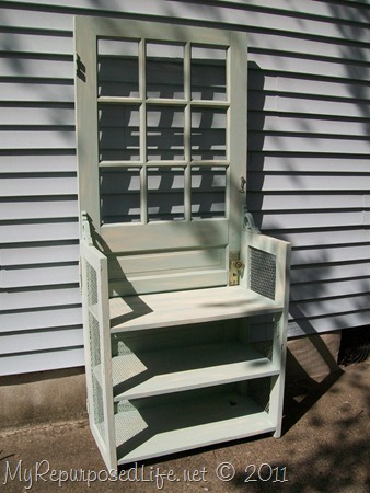green door shelf