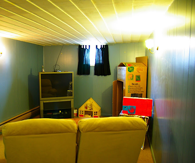 Basement rec room or theater room.
