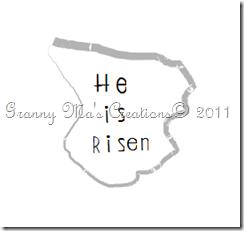 He Is Risen tombstone