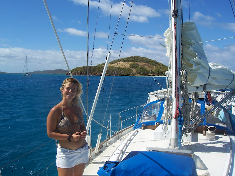 Laura Tonello in the Tobago Cays