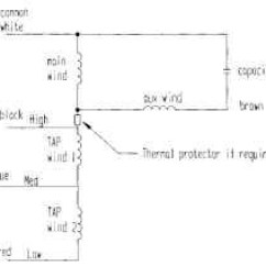 Single Phase 2 Pole Motor Wiring Diagram Basic Hvac General Procedure For Calculating The Performance Of Permanent-split-capacitor (psc) Motors ...