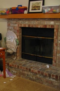 Fireplace cover-up | My Imaginary Blog
