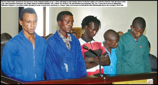 POTGIETER WILLEMIEN AGE 3, THE SUSPECTED EXECUTIONERS LINDLEY MAG COURT FS DEC62010