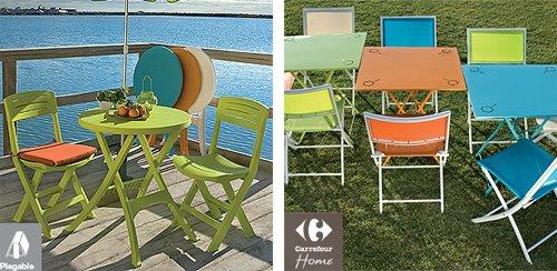 muebles coloristas para exteriores de carrefour