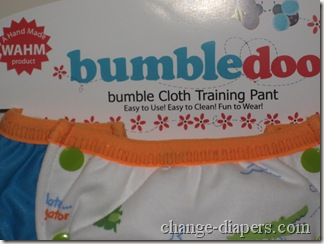 bumbledoo training pant package