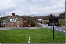Forbes Road Marker looking east on Route 30