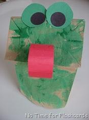 frog paper bag