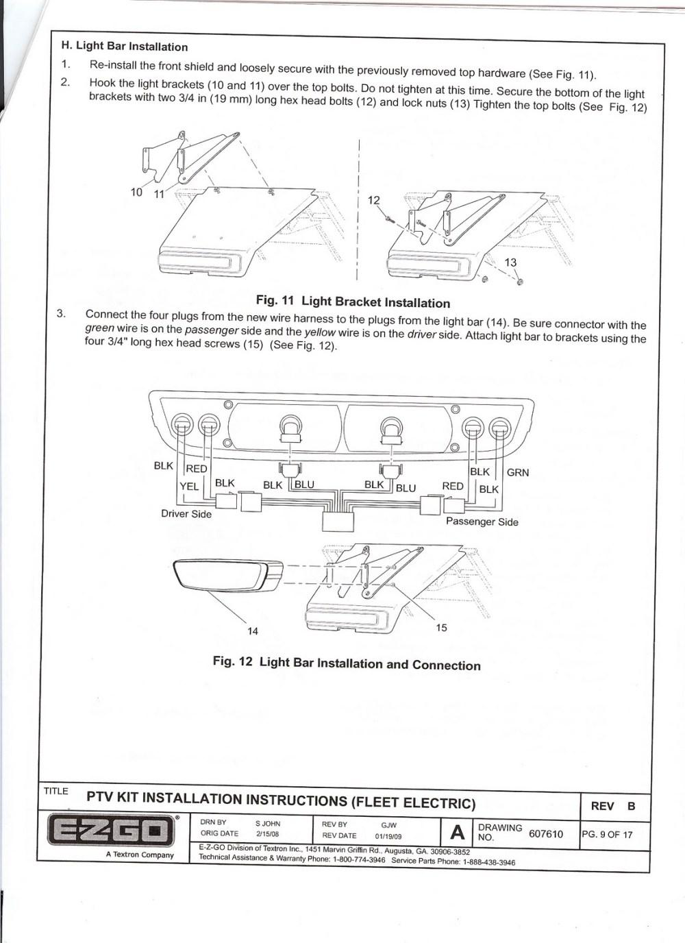 medium resolution of re ezgo freedom light kit installation instructions