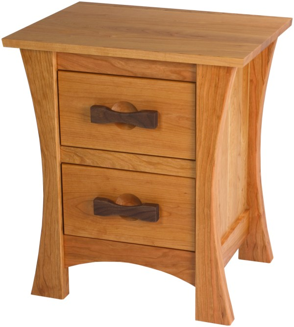 Zen Nightstand With Drawers Solid Wood In Style