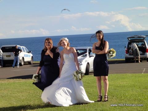 有新娘(bride)也在此拍照。