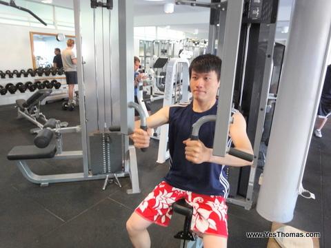 附設的健身房是健身好去處