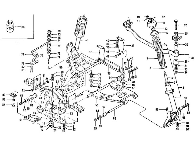Datsun 240Z/260Z/280Z Rear Suspension (Strut, Shock