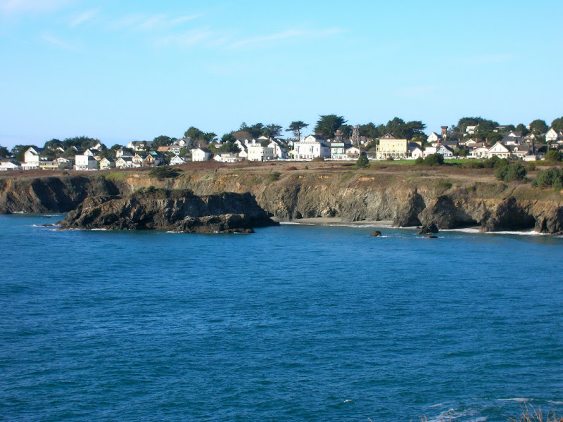 Zoom shot of Mendocino