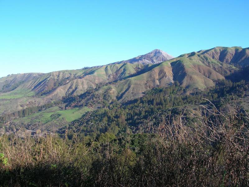 Pico Blanco from atop the ridge