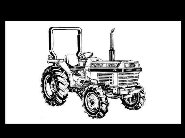 Kubota L2250 L2550 L2850 L3250 L 2250 Tractor Manual for sale