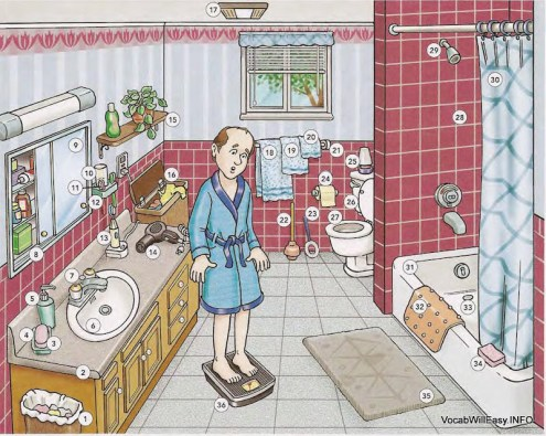 صورة قاموس / مكان / salle de bain